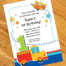 1st birthday all personalized invitations