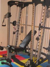 Nautilus Sit Up Bench Nautilus Smith Machine With Cable Crossover Ebay Home Gym