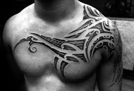 80 tribal shoulder tattoos for masculine design ideas