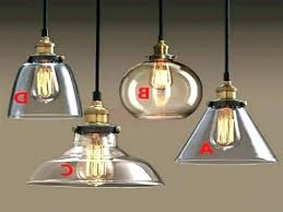 Clear Glass Pendant Light Clear Glass Pendant Light Shades Replacement Full Image Bowl
