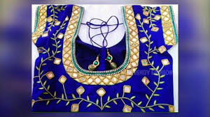dailymotion blouse maggam work designer blouses dailymotion