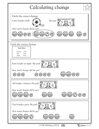 calculating change worksheets u0026 activities greatschools