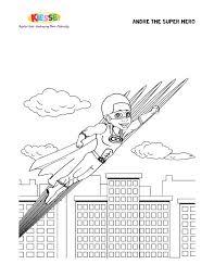andre super hero coloring page kiesse llc