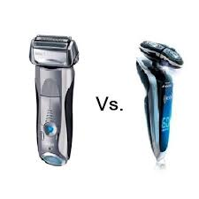 electric shaver is better than a razor for in grown hair foil vs rotary shaver