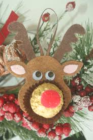 felt christmas ornaments rocher chocolates reindeer teddy polar felt christmas