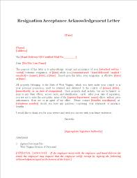Acknowledgement Letter Request free resignation acceptance acknowledgement letter templates at