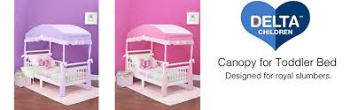 Doc Mcstuffins Toddler Bed With Canopy Amazon Com Delta Children Girls Canopy For Toddler Bed Purple