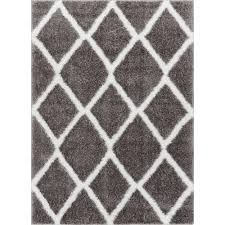 Modern Shag Rug Well Woven Mystic Zoe Grey 5 Ft 3 In X 7 Ft 3 In Modern