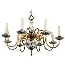 Blue Delft Chandelier Blue And White Delft Chandelier Circa 1940 At 1stdibs
