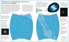 Northern Hemisphere Map Star Map U2013 Northern Hemisphere June To November