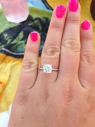 2 carat cushion cut engagement ring 2 2 carat cushion cut size 7 75 finger jewelry
