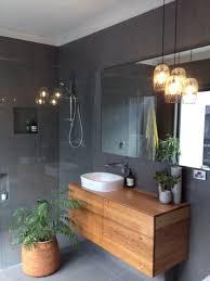 Timber Bathroom Vanity Timber Vanity Unit In A Tiled Bathroom Homer Pinterest