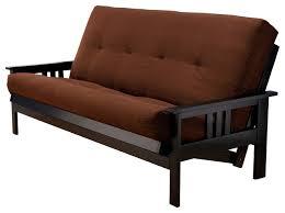 woodbury full size futon sofa with suede innerspring mattress