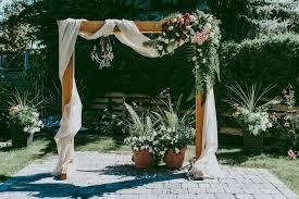 wedding arch garland diy wooden wedding arch with flower garland