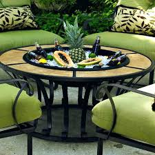 patio furniture fire pit table set great garden table with fire pit