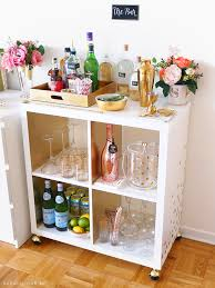 diy martini bar bar cart essentials home bar haul u2022 sara du jour