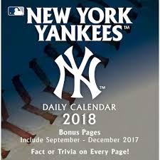 Desk Daily Calendar New York Yankees 2018 Desk Calendar 9781469349626 Calendars Com