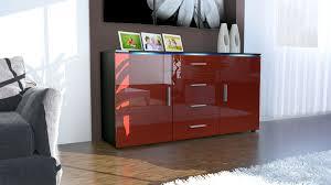 Black Modern Sideboard Modern Sideboard Buffet Server Storage Cabinet Chest Faro In Black