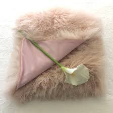 Furry Blanket Mongolian Fur Tibetan Lambskin Pink Throw Blanket And Bed Cover