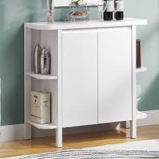 Bar Cabinets For Home by Furniture White Wine Bar Cabinet With Storage And Open Shelf As