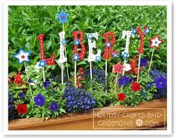 Garden Crafts Ideas Garden Craft Ideas Patriotic Yard Signs