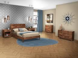 katonah solid hardwood mid century modern style bed endicott
