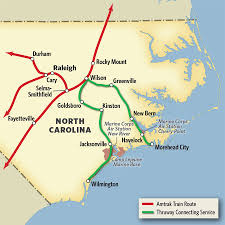Jacksonville Map Vacations In North Carolina By Train U0026 Thruway Bus Amtrak