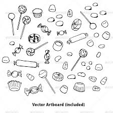 coloring pages of candy sketch coloring page