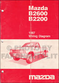 mazda b2200 1987 mazda b2200 b2600 pickup truck wiring diagram manual original