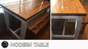 diy modern kitchen table build u2013 my next project