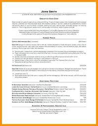 chef resume templates resume template for chef doorlist me