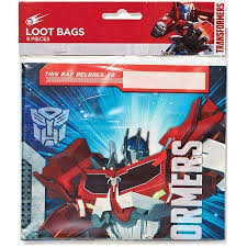 transformer rescue bots party supplies transformers treat bags pack of 8 party supplies walmart