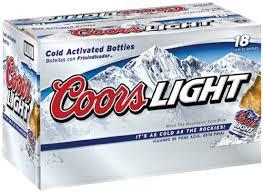 coors light 18 pack coors light 18 pk 12 oz bottles 4 2 abv amazon com grocery