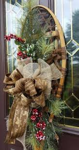 Outdoor Christmas Decoration Hangers by 8 Best Snowshoe Decor Images On Pinterest Outdoor Christmas