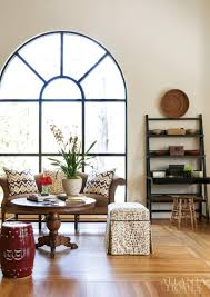 design at work judy bentley ah l arches are one of my favorite architectural elements explains bentley black lacquer asian inspired bookcases flank the window and sitting area