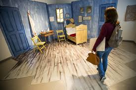 vincent van gogh bedroom unl art students convert vincent van gogh s bedroom washington times