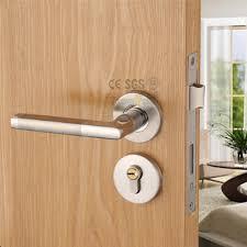 Designer Interior Door Handles Stainless Steel Wire Drawing Interior Door Handle Locks Wood Door