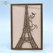 eiffel tower decorations craft items invitation laser cut delicate eiffel tower