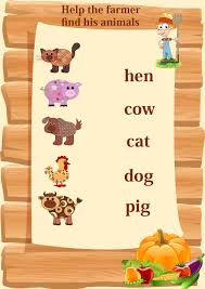 Abc Worksheets For Toddlers Matching Animals To Their Worksheets For Kids Crafts Actvities And
