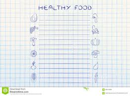 healthy food grocery list template stock photo image 68347866