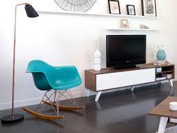 Meuble Tv Taupe Design by Meuble Tv Bas En Bois Avec 1 Abattant Et 2 Niches Prism Noyer Blanc