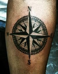 wonderful big feminine compass design made by ink