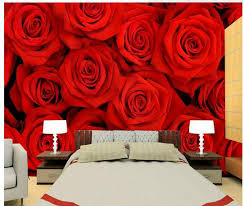 Wallpaper For Bedroom Walls Online Shop Wall Paper Beautiful Red Roses Bedroom Walls Wall