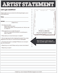 how to write an art history paper help your students learn to self assess and respond to their artist statement help your students learn to self assess and respond to their artwork create art with me artist statement form for middle school