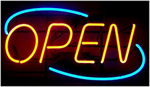 shop open sign lights amazon com oval real glass bright neon open sign light not led