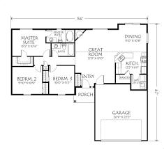 apartments 2 bedroom open floor house plans single story open