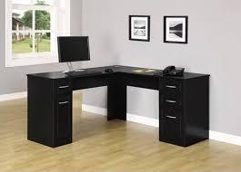 black l shaped computer desk black l shaped desk computer back wood onsingularity com