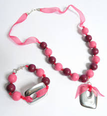 jewelry ribbon necklace images Organza ribbon jewellery set how to make a ribbon necklace jpg