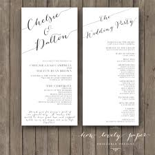 classic wedding programs wedding program ideas to go for 21st bridal world wedding