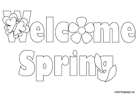 free printable spring coloring pages for use in your classroom and